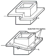 DFM - Parting Line and Ejector Pins for Die Casting
